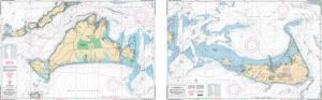 Martha's Vineyard & Nantucket, Massachussets Nautical Marine Charts - Waterproof Charts