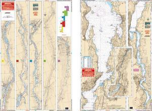 Champlain Canal, New York & Southern Lake Champlain, Vermont Nautical Marine Charts - Waterproof Charts