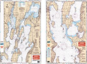 Northern Lake Champlain, New York, Vermont Nautical Marine Charts - Waterproof Charts