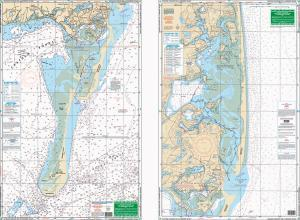 Chatham, Pleasant Bay & Monomoy Island, Massachusetts Nautical Marine Charts, Large Print - Waterproof Charts