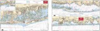 East Rockaway Inlet to Shinnecock Inlet, New York Nautical Marine Charts - Waterproof Charts