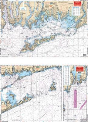 Fishers Island Sound, Connecticut Nautical Marine Charts - Waterproof Charts