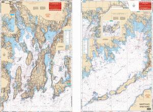 Narragansett, Rhode Island & Buzzards Bay, Massachussets Nautical Marine Charts - Waterproof Charts