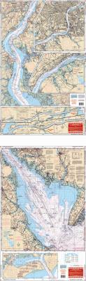 Delaware Bay and C & D Canal Nautical Marine Charts - Waterproof Charts