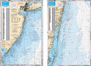 New Jersey Coastal Fish & Dive Nautical Marine Charts - Waterproof Charts