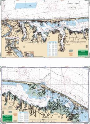 Barnegat Bay, New Jersey Nautical Marine Charts, Large Print - Waterproof Charts