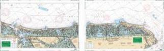 Ocean City, New Jersey to Cape May Nautical Marine Charts, Large Print - Waterproof Charts