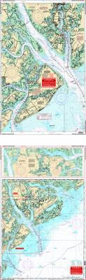Beaufort, South Carolina (Hilton Head Area) Nautical Marine Charts - Waterproof Charts