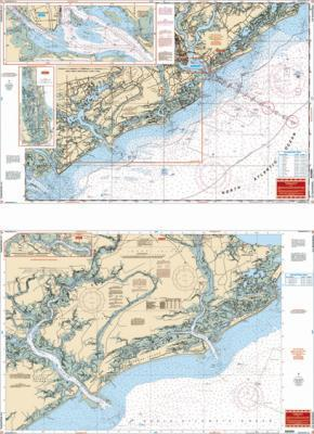 Charleston, South Carolina Nautical Marine Charts - Waterproof Charts