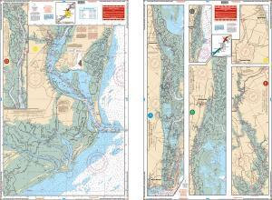 Charleston Harbor to Myrtle Beach, South Carolina Nautical Marine Charts - Waterproof Charts