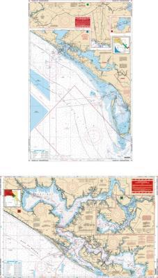 Panama City, Florida Inshore-Offshore Nautical Marine Charts - Waterproof Charts
