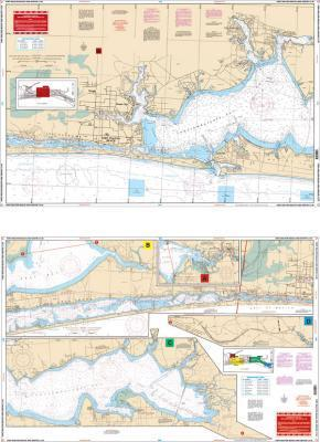 Fort Walton Beach to Destin Intracoastal Waterway I.C.W., Florida Nautical Marine Charts - Waterproof Charts