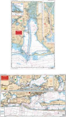 Pensacola Bay, Florida & Mobile Bay, Alabama Nautical Marine Charts - Waterproof Charts