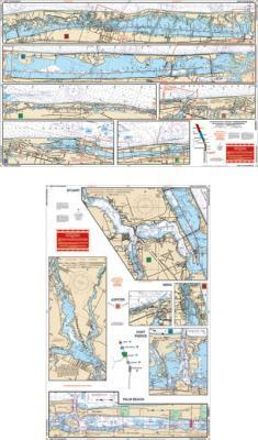 Vero to Palm Beach, Florida Intracoastal Nautical Marine Charts - Waterproof Charts