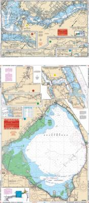Lake Okeechobee, Stuart to Fort Myers Beach, Florida Nautical Marine Charts - Waterproof Charts