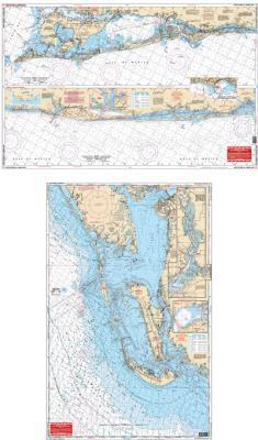 Fort Myers Beach to Tampa Bay, Florida Nautical Marine Charts - Waterproof Charts