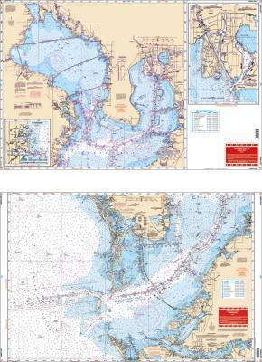 Tampa Bay, Florida Nautical Marine Charts - Waterproof Charts