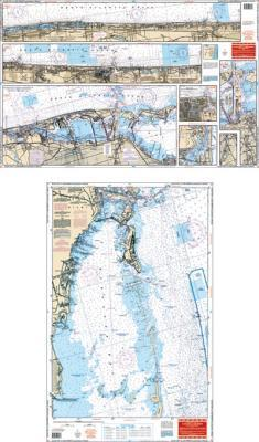 Elliot Key to Lake Worth, Florida Nautical Marine Charts - Waterproof Charts