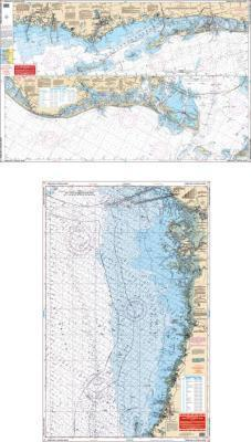Tampa Bay to Crystal River, Florida Nautical Marine Charts - Waterproof Charts