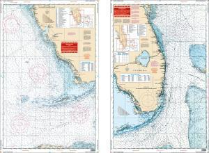 South Florida Maxi Nautical Marine Charts - Waterproof Charts