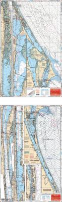 New Smyrna Beach to Sebastian Inlet, Florida Nautical Marine Charts - Waterproof Charts