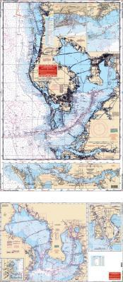 Tampa Bay, Florida & Approaches Nautical Marine Charts - Waterproof Charts