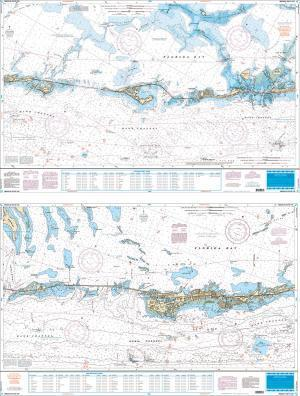Middle Keys, Florida Fish & Dive Nautical Marine Charts - Waterproof Charts