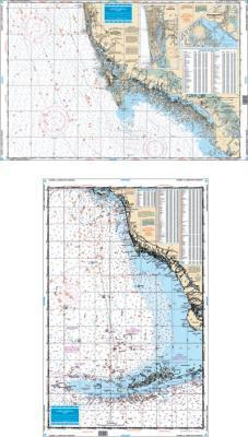 Sanibel to Lower Keys, Florida Fish & Dive Nautical Marine Charts - Waterproof Charts