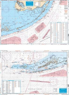 Straits of Florida Fish & Dive, Rebecca Shoal to Pacific Reef Nautical Marine Charts - Waterproof Charts