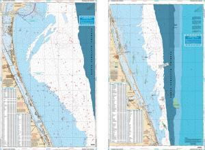 Treasure Coast, Florida Fish & Dive Nautical Marine Charts - Waterproof Charts