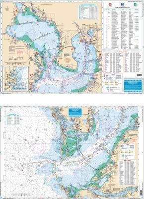 Tampa Bay Area, Florida Inshore Fishing Nautical Marine Charts - Waterproof Charts