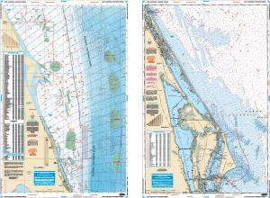 Cape Canaveral, Florida Offshore Fishing Fish & Dive Nautical Marine Charts - Waterproof Charts