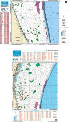 Jacksonville to Daytona, Florida Offshore Fish & Dive Nautical Marine Charts - Waterproof Charts