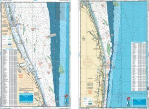 Palm Beach to Ft. Pierce, Florida Fish & Dive Nautical Marine Charts - Waterproof Charts