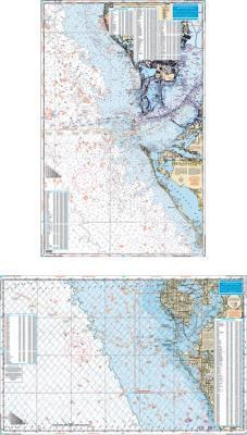 Clearwater to Venice, Florida Fish & Dive Nautical Marine Charts - Waterproof Charts