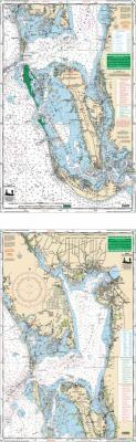 Charlotte Harbor & Pine Island Sound, Florida Nautical Marine Charts, Large Print - Waterproof Charts
