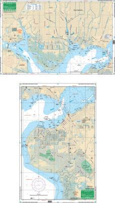 Punta Gorda Isles & Port Charlotte Canals, Florida Nautical Marine Charts, Large Print - Waterproof Charts