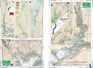 Peace & Myakka Rivers, Florida Nautical Marine Charts, Large Print - Waterproof Charts