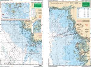 Homosassa to Suwannee River, Florida Nautical Marine Charts, Large Print - Waterproof Charts