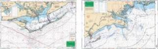 Apalachicola Bay to St. Marks, Florida Nautical Marine Charts, Large Print - Waterproof Charts