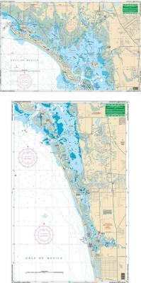 Estero Bay to North Naples, Florida Nautical Marine Charts, Large Print - Waterproof Charts