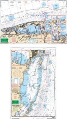 Miami to Card Sound, Florida Nautical Marine Charts, Large Print - Waterproof Charts