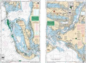 Barrier Islands, Boca Grande to Estero Bay, Florida Nautical Marine Charts, Large Print - Waterproof Charts