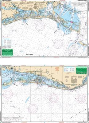 Clearwater Harbor to Egmont Key, Florida Nautical Marine Charts, Large Print - Waterproof Charts