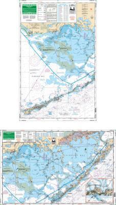 Florida Bay Nautical Marine Charts, Large Print - Waterproof Charts