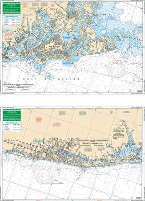 Naples to Marco Island, Florida Nautical Marine Charts, Large Print - Waterproof Charts