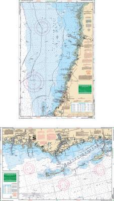Honeymoon Island to Bayport, Florida Nautical Marine Charts, Large Print - Waterproof Charts