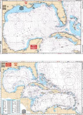 Caribbean Sea & Gulf of Mexico Nautical Marine Charts - Waterproof Charts