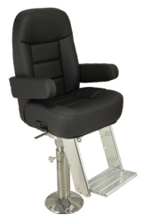 """Mariner Pilot House Air-Ride Package with Mariner II Slide, 4"""" Mainstay Pedestal, Drop-Down Footrest - Springfield"""