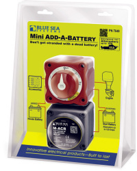 Mini Battery Switch & Auto Charging Relay 65 Amp - Blue Sea Systems